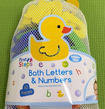 62 Piece Bath Letters & Numbers